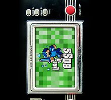 Classic Retro Black gameboy with 8 bit game by Johnny Sunardi