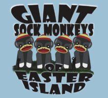 Giant Sock Monkeys of Easter Island Kids Clothes
