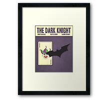 The Dark Knight (Vintage) Framed Print