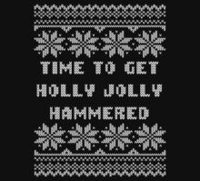 Time To Get Holly Jolly Hammered Ugly Sweater by xdurango