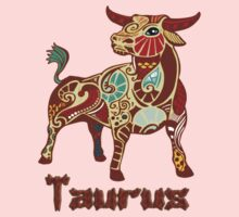 Zodiac Taurus the Bull t-shirt by Walter Colvin