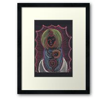 Goddess - Mary with child Framed Print