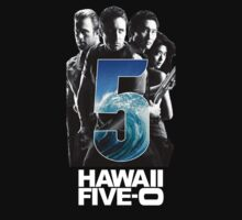 Hawaii Five-O tv logo black t-shirt tshirt shirt by Robert Davidson