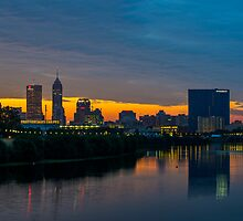Indianapolis Skyline 1 by DavidHaskett