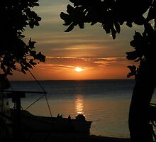 Sunset - Robison Crusoe Island, Fiji. by Sue-C