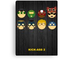 Minimalist Posters: Kick-Ass 2 Canvas Print