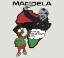 "Bart Simpson - Nelson Mandela ""RIP Dude, we'll miss you"" by twoorthreeor"