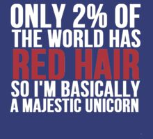 RED HAIR MAJESTIC UNICORN by Alan Craker