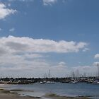 Looking back to Marina Geelong beach. Vic. by Rita Blom