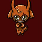 Orange Chibi Demon Phone Case by Mimi-The-Turtle