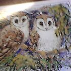 Owls on a placemat by AmandaWitt