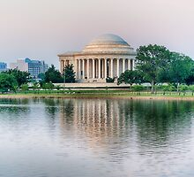 Jefferson Memorial Sunset by Ray Warren