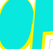 Dope Cyan Yellow | Hope4Pope.org Sticker