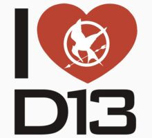 I Love District 13 Shirt - Hunger Games by glucern