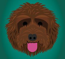 Brown Labradoodle by threeblackdots