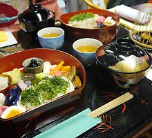Traditional Bento in Kyoto by amberfox17