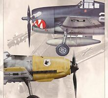 Aircraft and Markings of WW II by A. Hermann