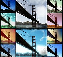 Golden Gate Bridge Photo Collage by stine1