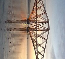 Forth Rail Bridge November Sunrise.   by LBMcNicoll