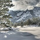 The Flatirons In A Gown of White by Greg Summers