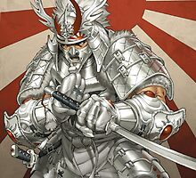 Silver Samurai Phone Case by GRZZ82