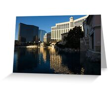 Cheerful Early Morning Bellagio Reflections Greeting Card