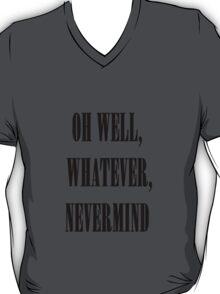 Nirvana oh well whatever nevermind lyrics shirt T-Shirt