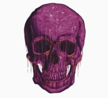 violet skull by absolemstudio