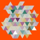 Colourful Triangles Pattern by awiec