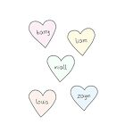 One Direction Hearts by judymoy