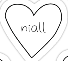 One Direction Hearts Sticker