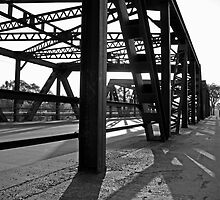 Steel Bridge Black and White by Gary Horner