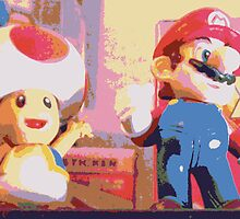 Mario and Toad by Fan-Art-Int
