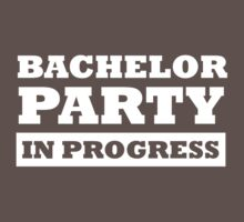Bachelor Party in Progress by bridal