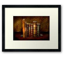 Librarian - Writer - Antiquarian books Framed Print