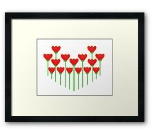 I Love Red Flowers Framed Print