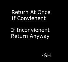 Return If Convienent by artsiel