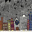 Big City Snow Fall by Alberto  DeJesus