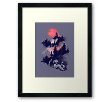 Samurai's life (violet hue) Framed Print