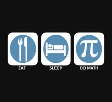 Eat Sleep Do Math Kids Clothes