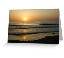 California Surfing Sunset - Pacific Beach, San Diego, California Greeting Card