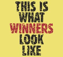 THIS IS WHAT WINNERS LOOK LIKE (Black Red) Kids Clothes