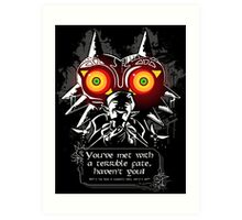 Majoras Mask - Meeting With a Terrible Fate Art Print