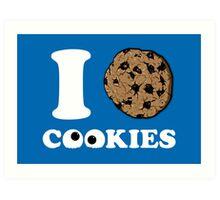 I Love Cookies Art Print
