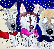 Bella,Nika & Tessa Xmas Carol Singers by archyscottie