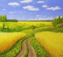 Country road by Veikko  Suikkanen