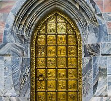 The Gold Door of Bok Tower, Florida by Heidi Stewart