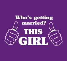 Who's getting married? This girl by bridal
