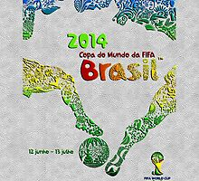 World Cup Brazil 2014 [Leather White] Samsung by Vidka Art