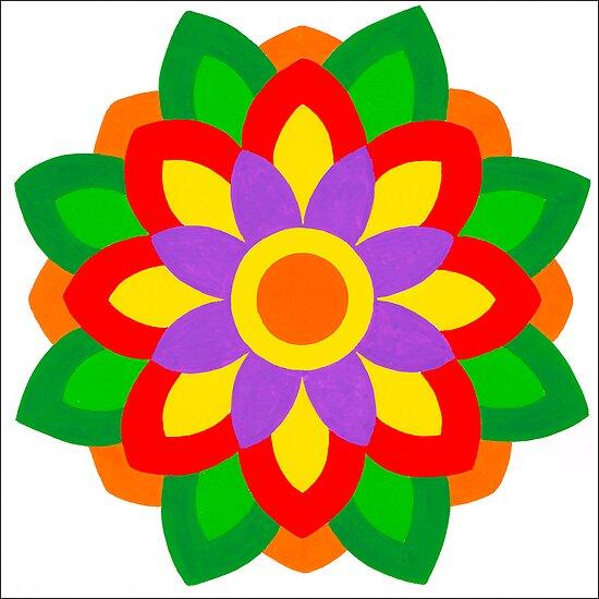 FLOWER ART IN BRUSH AND GOUACHE by RainbowArt